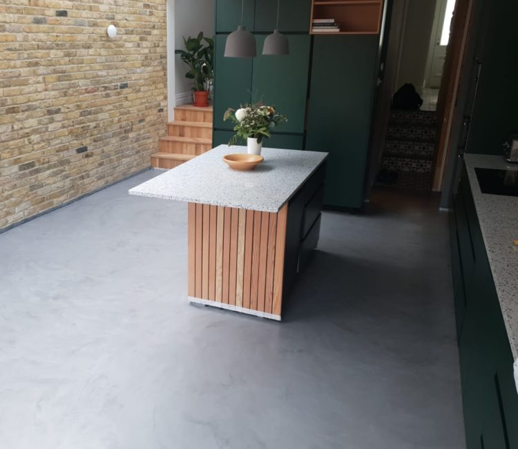 Microcement - Classy and decorative flooring in your kitchen